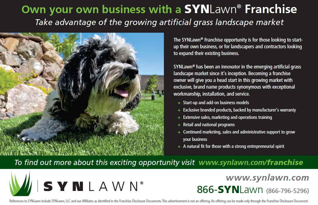 SYNLawn franchise half-page ad